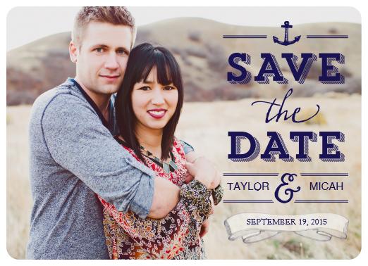 Save the Date Lettering Over Photo